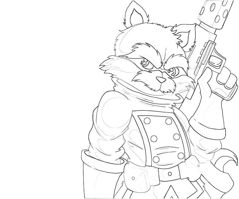 rocket raccoon coloring pages | Rocket Raccoon Cartoon | Lowland Seed