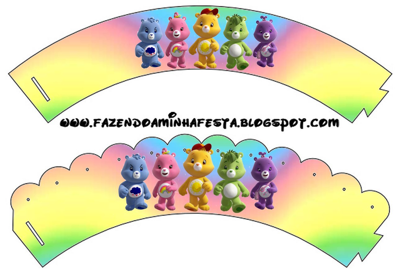 Care Bears Party Free Printable Cupcake Wrappers And Toppers