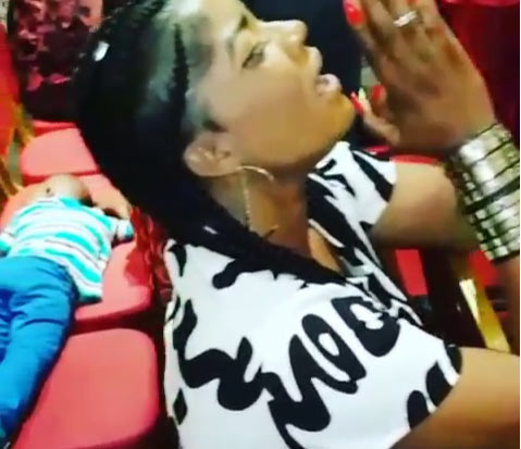 Angela Okorie blasted for praising God and sharing video on social media