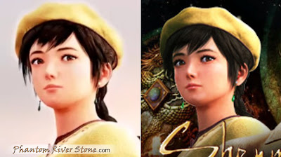 Shenhua in the Prophecy trailer (left) vs the Steam page image (right)