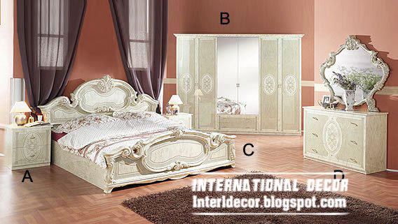 Wooden Bedroom Furniture In Clic States And White Color