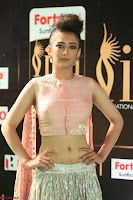 Akshara Haasan in Peachy Crop Top Choli Skirt at IIFA Utsavam Awards 68.JPG