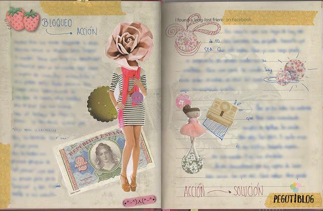 página de art journal pastel