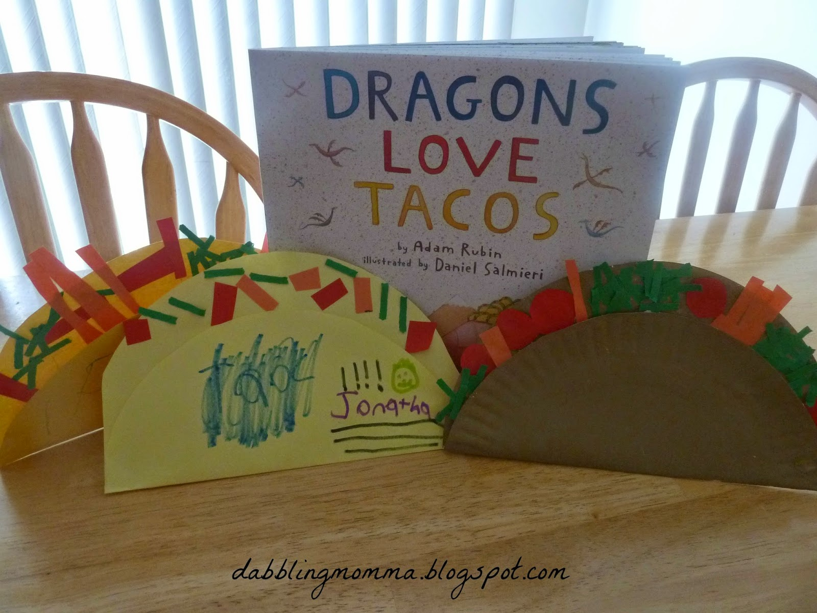 My daughter was given a book called, Dragons Love Tacos by Adam Rubin as a  gift from her Preschool last Christmas. We have read this book so many  times and ...