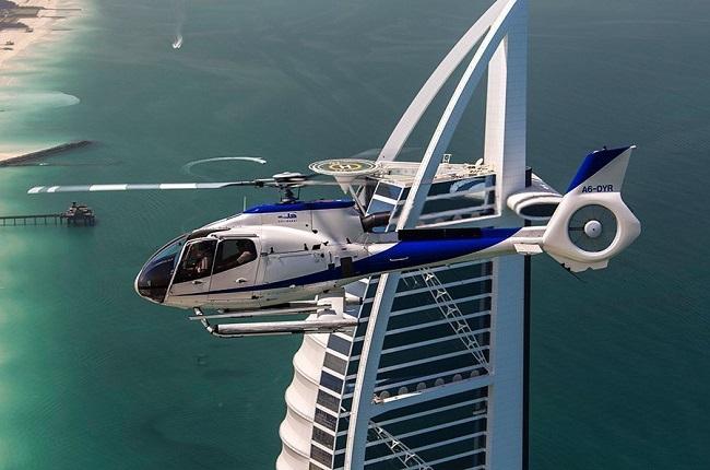 Helicóptero particular do hotel