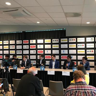 Rueda de prensa con los participantes del Norway Chess 2017