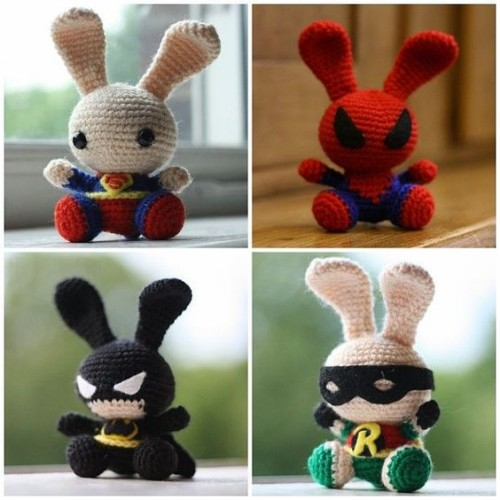 Superhero Bunnies - Free Pattern