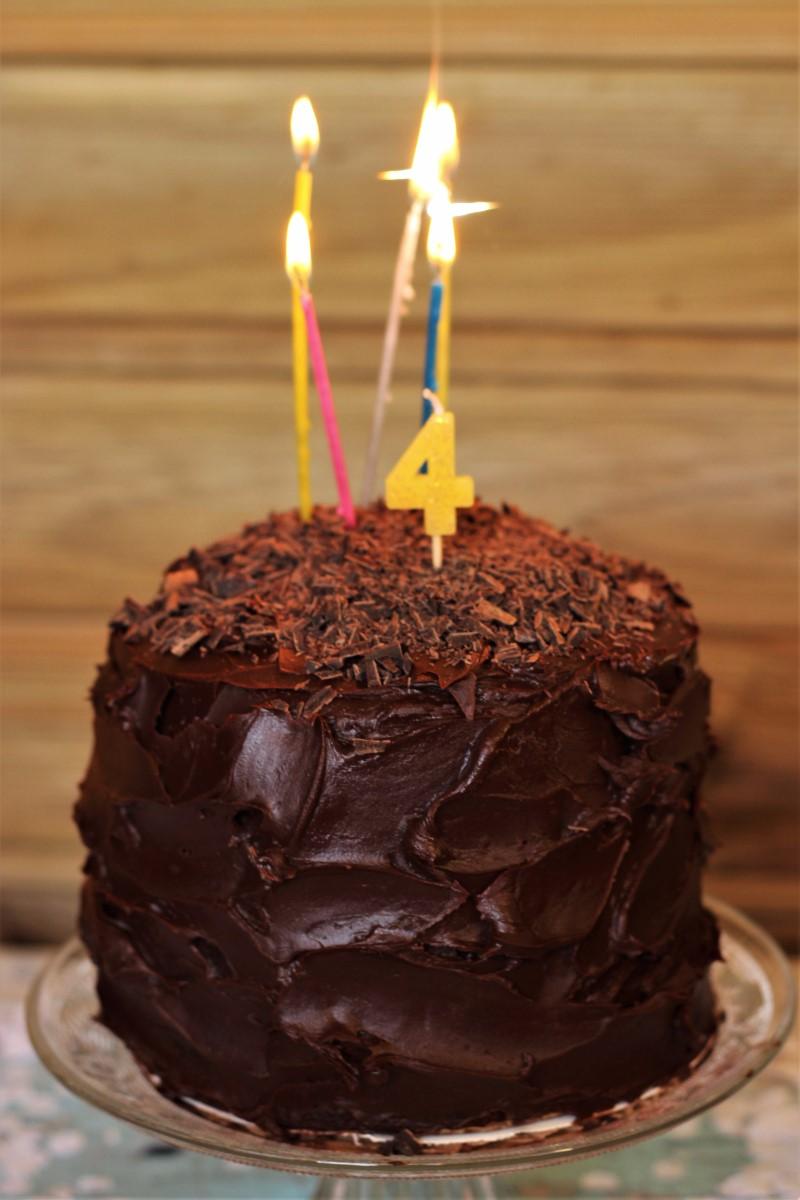 Tarta de Chocolate y Feliz 4º aniversario