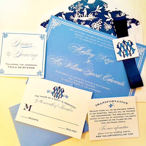Chinoiserie Wedding Invitation