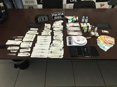 Polícia Civil prende suspeito de comercializar substâncias entorpecentes e anabolizantes, em Patos