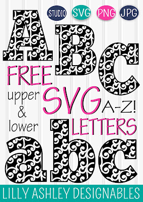 free letter set lilly ashley designables