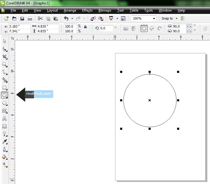 Tutorial, Cara /Langkah Membuat Bola 3D Sederhana pada CorelDRAW X4