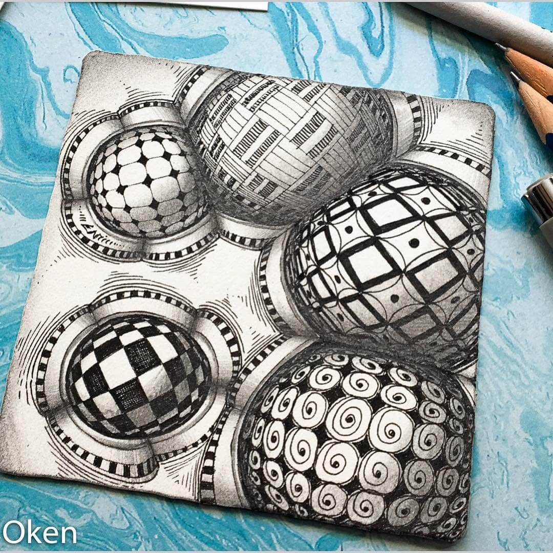 04-Clubbers-Eni-Oken-Ink-and-Pencil-Fantasy-and-Zentangle-Drawings-www-designstack-co