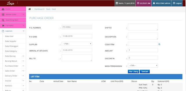 Program Penjualan Untuk Distributor Barang Berbasis WEB PHP Mysql