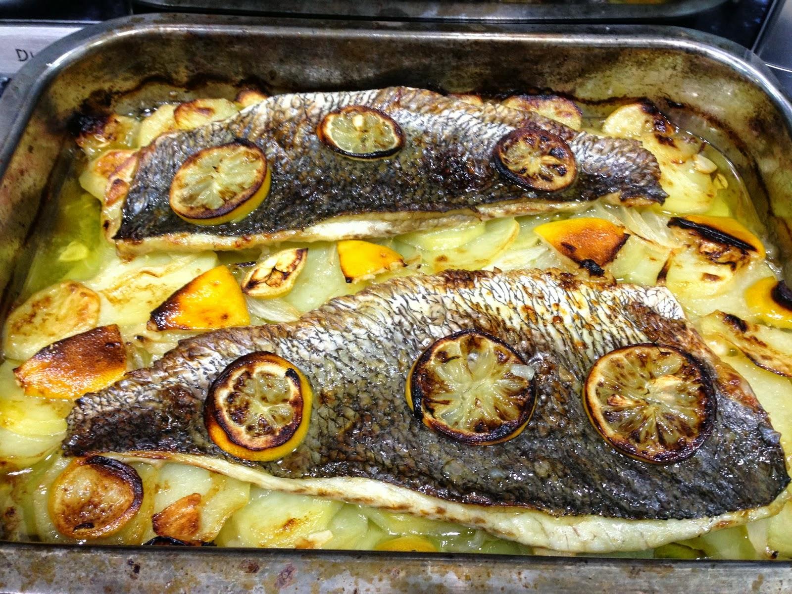 Cocina 3 generaciones corvina al horno - Cocina al horno ...