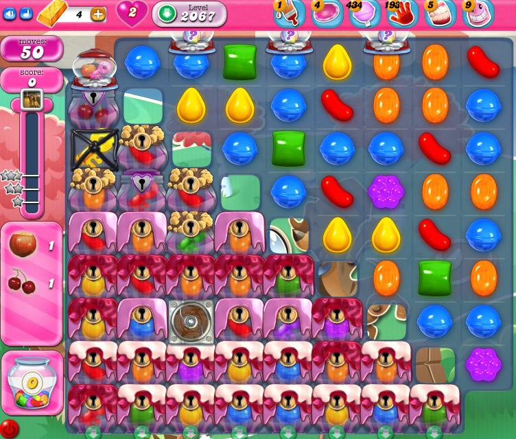 Candy Crush Saga level 2067
