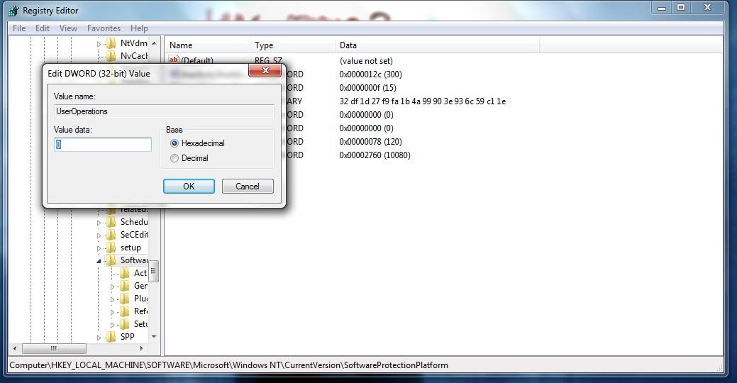 windows 7 rearm registry hack