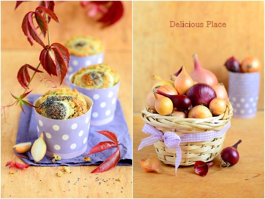 Muffiny cebulowo-makowe