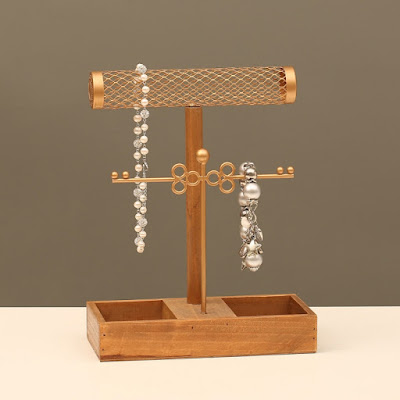 Get yourself a necklace display from Nile Corp for an organized dresser.