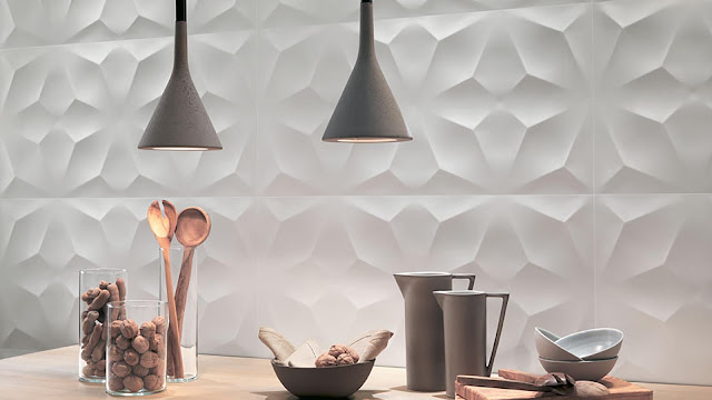 Tile design on wall - 3D Wall Design collection