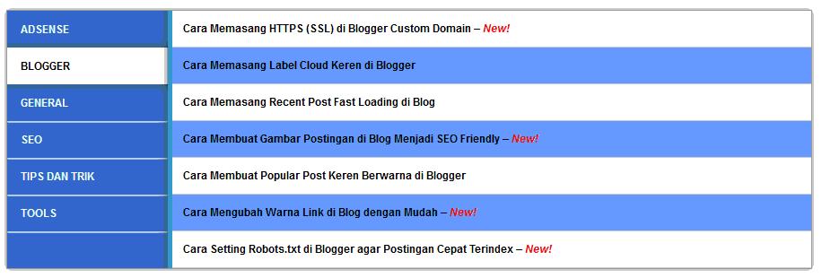 Cara Membuat Halaman Sitemap Keren di Blog dan SEO Friendly Tanpa Edit Html