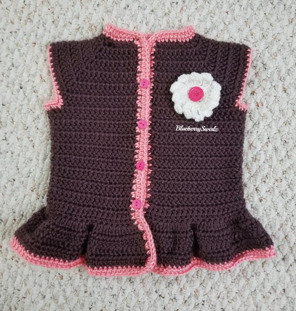 Crochet Peplum Vest Size 2t 3t 4t Free Pattern Blueberryswirlz