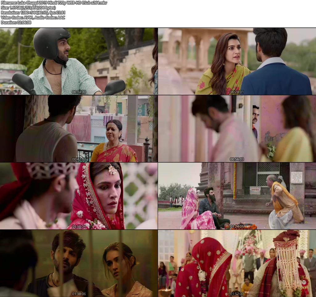 Luka Chuppi 2019 Hindi 720p WEB-HD ESub x264 | 480p 300MB | 100MB HEVC Screenshot