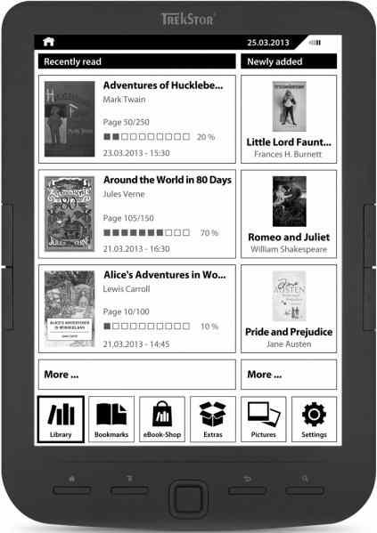 Trekstor Pyrus Maxi - czytnik z ekranem 8 cali