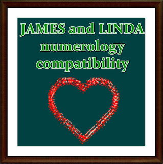 JAMES and LINDA numerology  compatibility  by First name