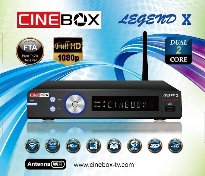 CINEBOX LEGEND X NOVA ATUALIZAÇÃO - 22/09/2018