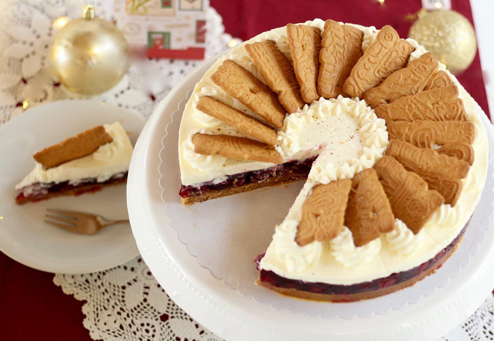 Spekulatius-Kirsch-Torte mit Sahne - Rezept und Video von Sugarprincess | SCCC 2019 und Foodblogger Adventskalender Türchen Nr. 18 | Gewinnspiel