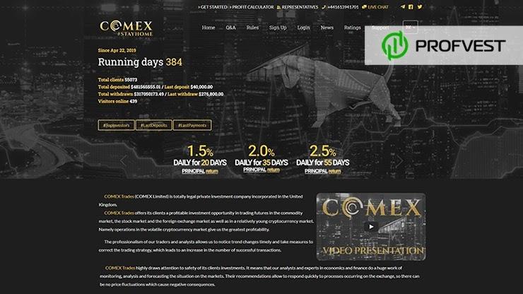 Comex Trades обзор и отзывы HYIP-проекта