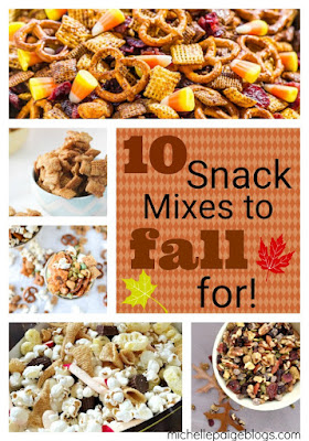 Fall snack mixes to make and give.