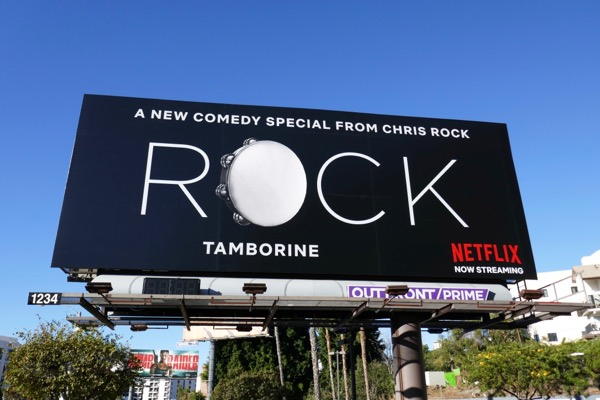 Chris Rock Tamborine Netflix comedy special billboard