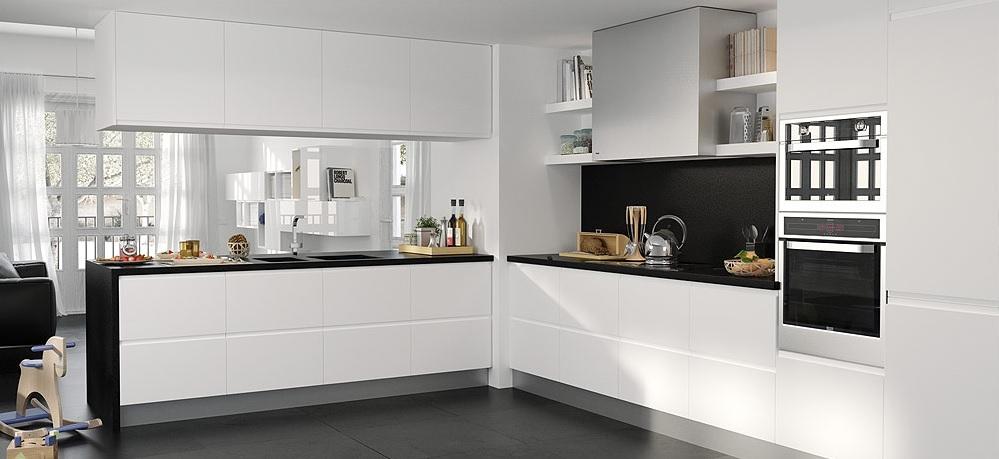 32 fotos de cozinhas a preto e branco decora o e ideias for Cocinas el corte ingles 2016