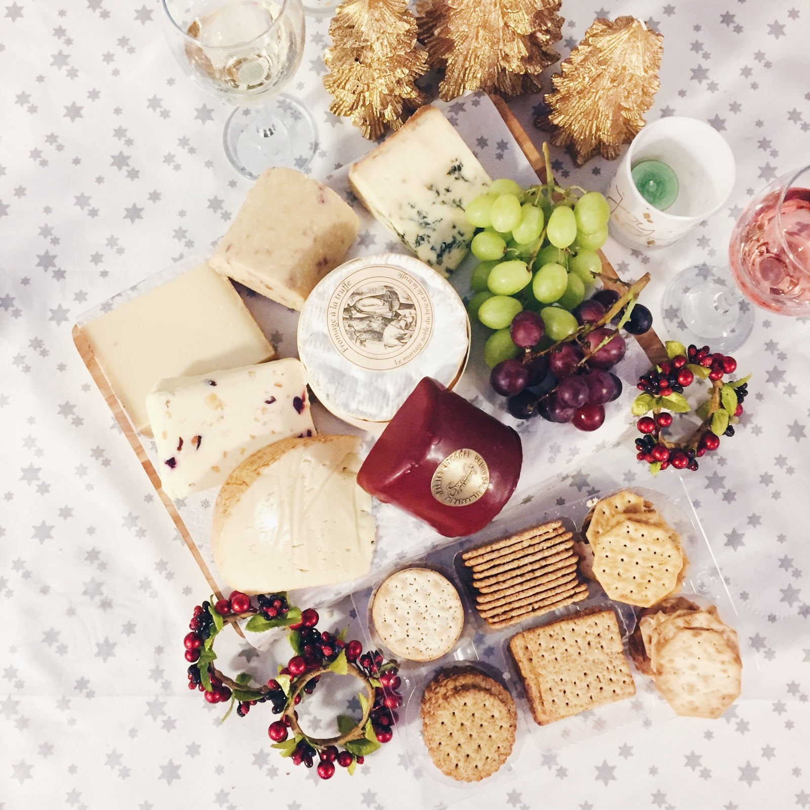 cheeseboard at christmas