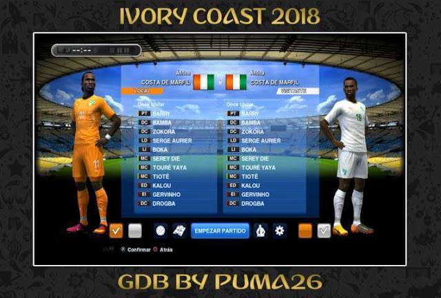 Pantai Gading 2018 Kits PES 2013