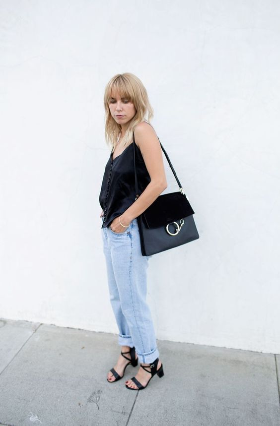 Courtney Always Judging - Black Suede Leather Chloe Faye Bag