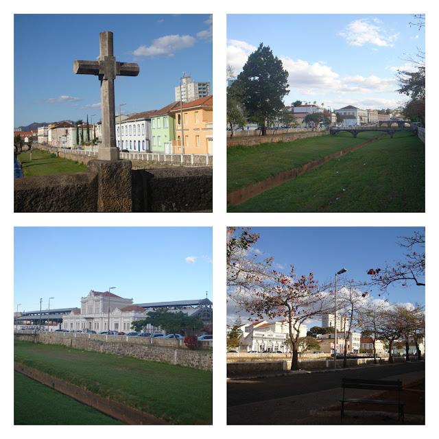 Praia de São João del Rei e casario histórico