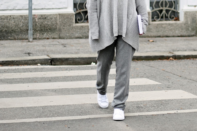 all over grey and white sneaker