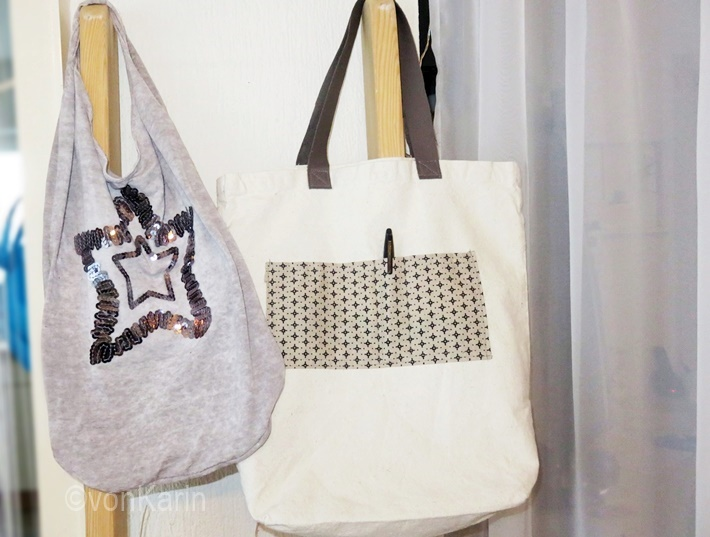 Stofftaschen upcycling aus Altmaterial