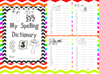 fundamentals of firsts spelling dictionary booklet. Black Bedroom Furniture Sets. Home Design Ideas