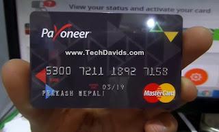 payoneer card front