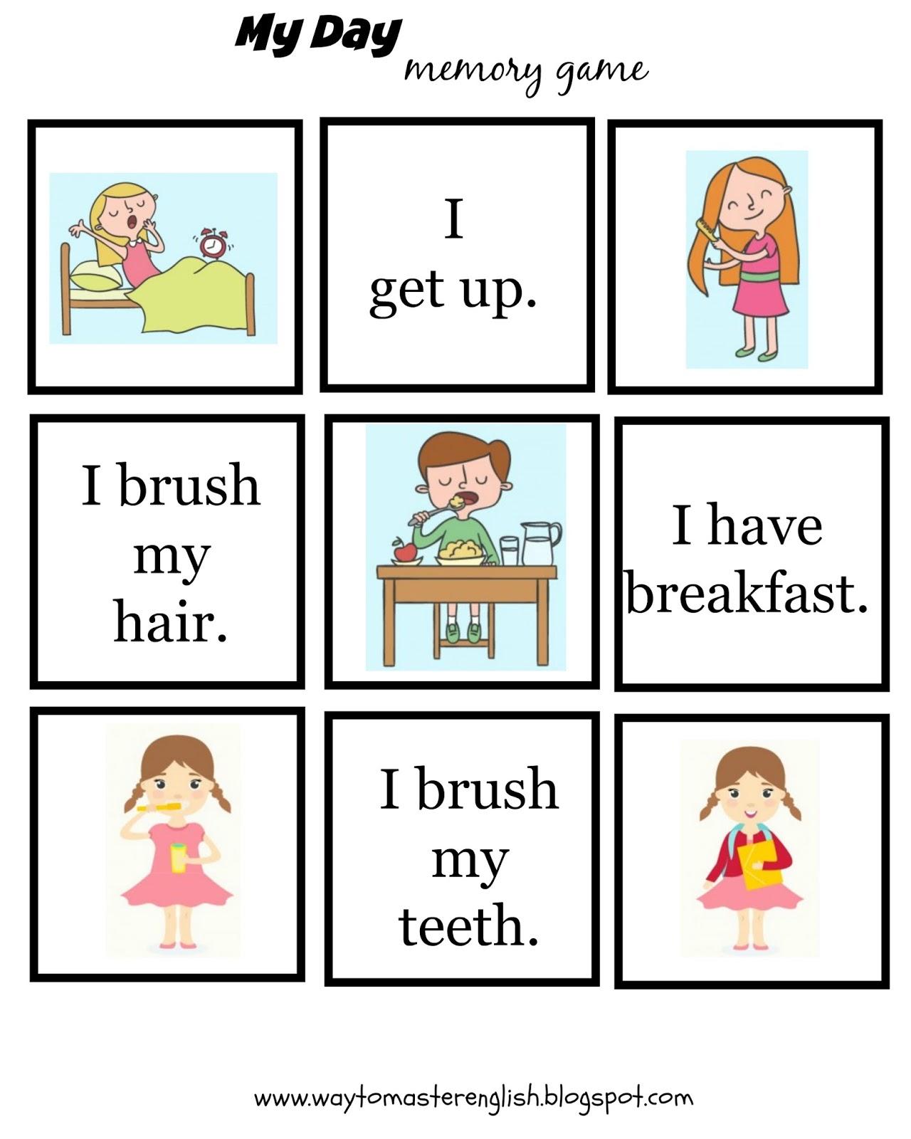 Funglish My Daily Routine