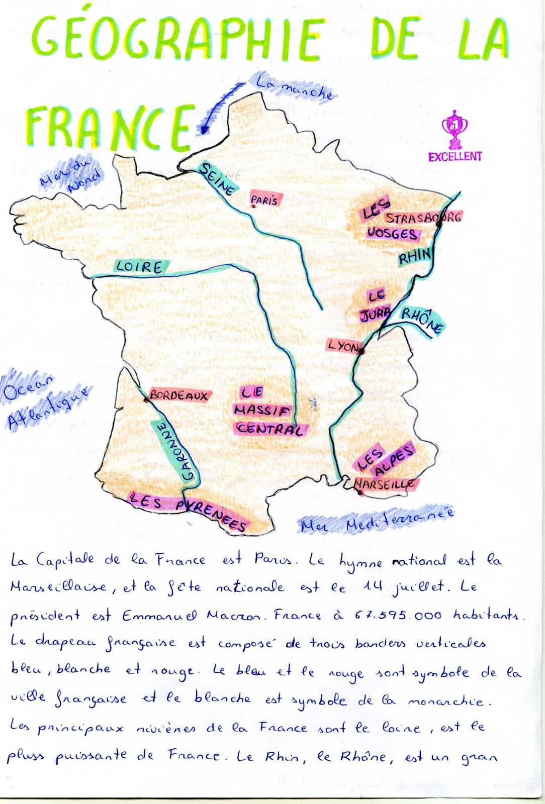 Le Coqui Hebdomadaire La Geographie De La France