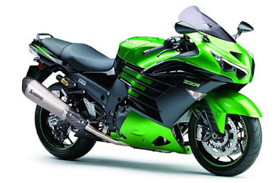 Kawasaki Ninja ZX-14R green colour HD Image