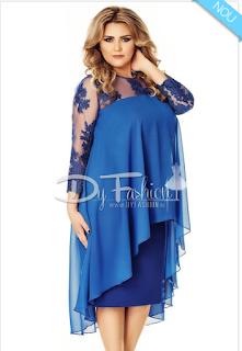 Comanda de aici rochia albastra cu voal- acum cu livrare in UE