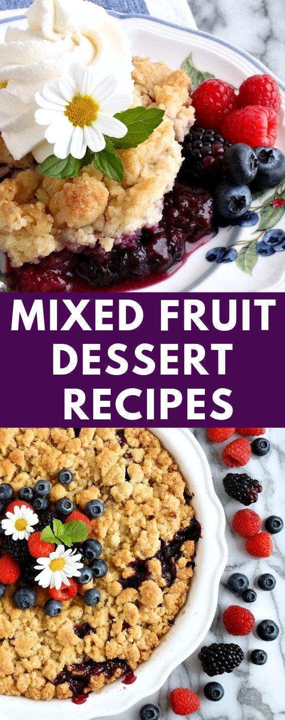 Mixed Fruit Dessert Recipes