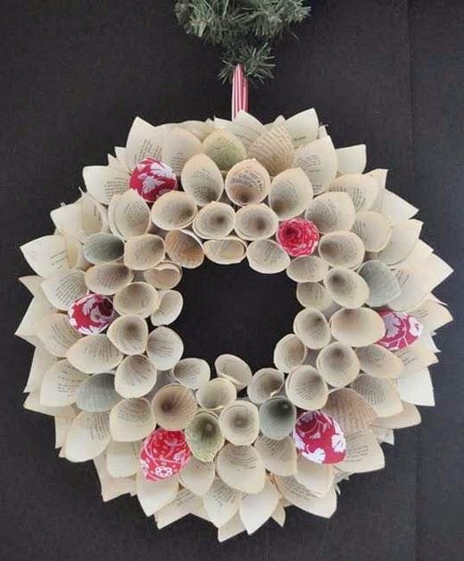 El mundo del reciclaje coronas de navidad con material - Modelos de coronas ...