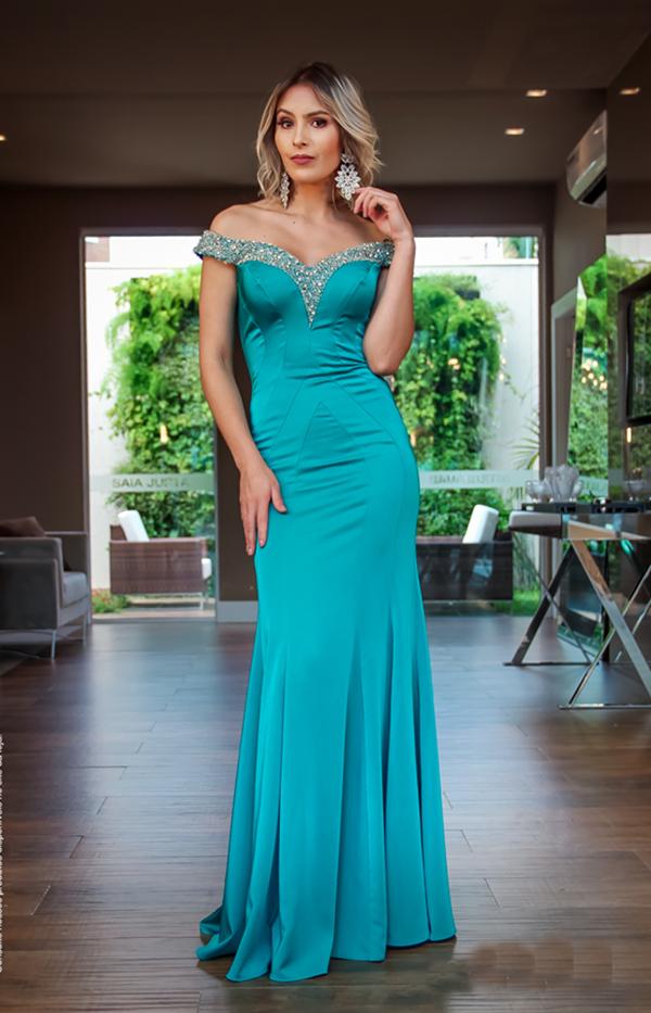 vestido de festa verde madrinha